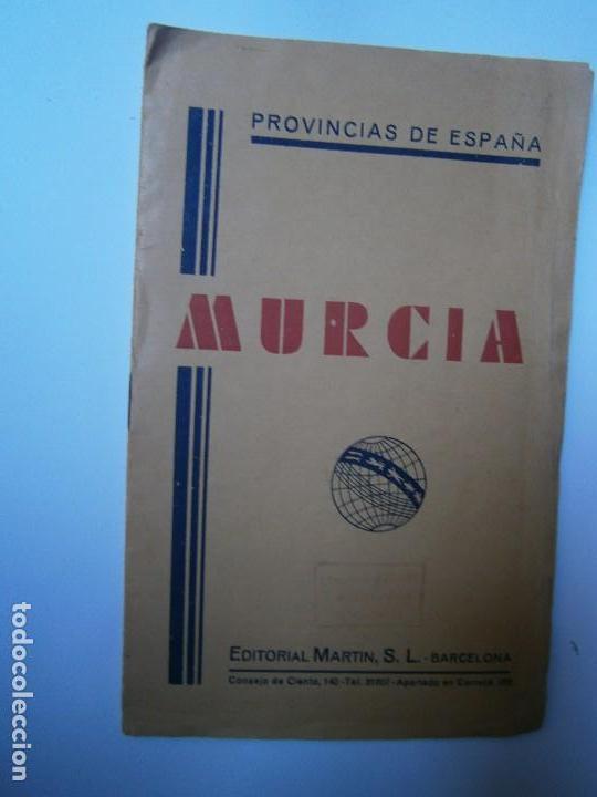 LIBROS ARTE MURCIA MAPAS - MURCIA PROVINCIAS DE ESPAÑA MAPA INDICE TOPONIMICO TELEFONOS Y TELEGRAFOS (Libros de Segunda Mano - Bellas artes, ocio y coleccionismo - Otros)