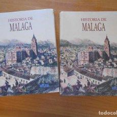 Libros de segunda mano: HISTORIA DE MALAGA - TOMO I Y TOMO II - DIARIO SUR - ILUSTRADO - TAPA DURA (F1). Lote 98452015