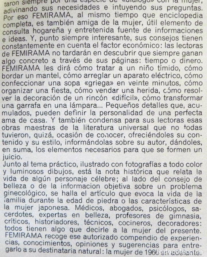 Libros de segunda mano: FEMIRAMA VOL 1 LIBRO DE DECORACIÓN JARDINERÍA COSTURA CONSEJOS SALUD MUEBLES COCINA IDEAS GUÍA CASA - Foto 3 - 98646459