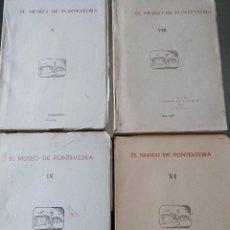 Libros de segunda mano: LOTE MEMORIAS MUSEO DE PONTEVEDRA 4 TOMOS. Lote 98741391