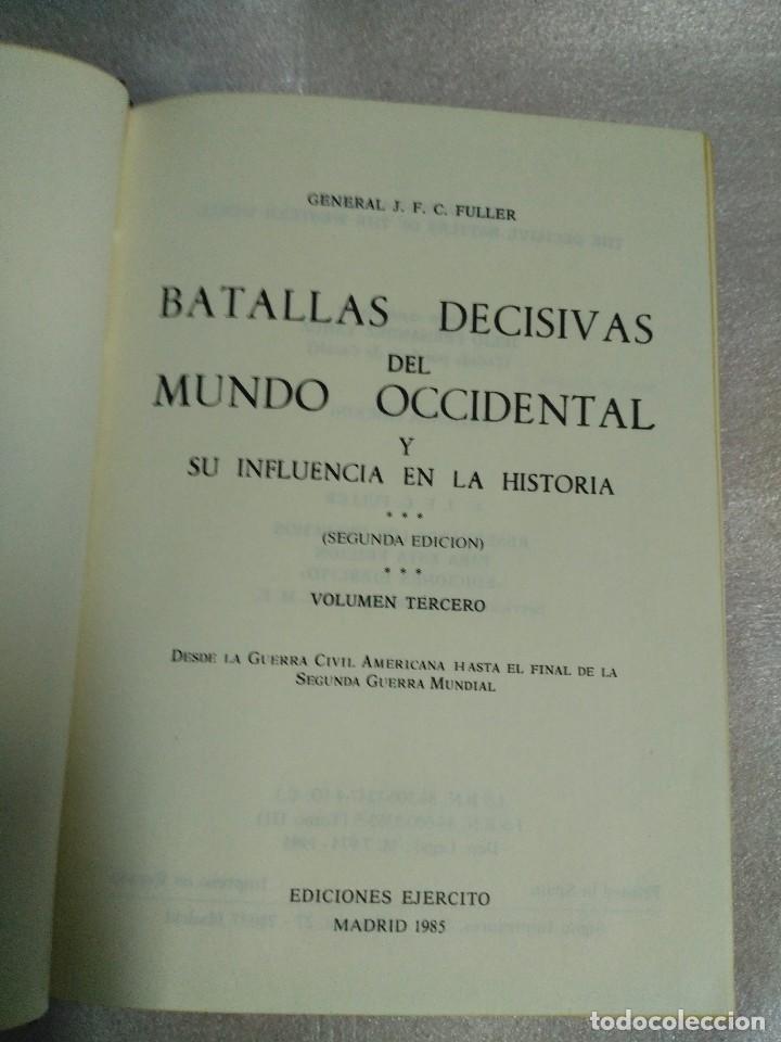 Libros de segunda mano: BATALLAS DECISIVAS DEL MUNDO OCCIDENTAL, TOMO III, EDICIONES EJERCITO, 1979 - Foto 3 - 99113055