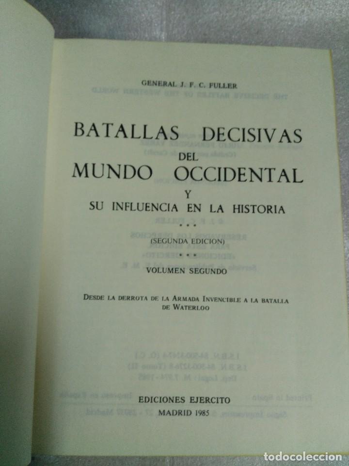 Libros de segunda mano: BATALLAS DECISIVAS DEL MUNDO OCCIDENTAL, TOMO II, EDICIONES EJERCITO, 1979 - Foto 3 - 99113063
