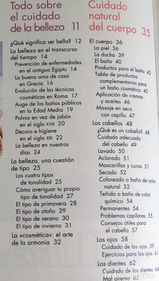 Libros de segunda mano: BELLEZA NATURAL LIBRO MARGOT HELLMISS - PELUQUERÍA VESTIDOS MAQUILLAJE GUÍA TRUCOS CUIDAR EL CUERPO - Foto 3 - 99186619