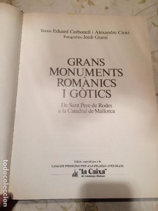 Libros de segunda mano: Antiguo libro Grans monuments romanics i gòtics por Eduard Carbonell / Alexandre Cirici / Jordi Gumí - Foto 2 - 99229883