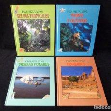 Libros de segunda mano: COLECCIÓN PLANETA VIVO. 4 TOMOS. EDEBÉ, 1993. COMPLETA. Lote 99550435