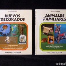 Libros de segunda mano: LOTE 2 TOMOS COLECCIÓN COMO HACER, EDITORIAL VILAMALA, 1972. Lote 99550715