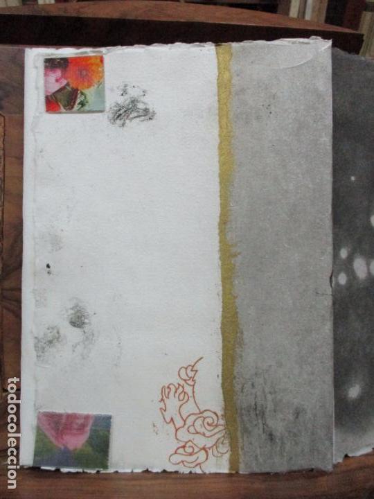 Libros de segunda mano: JARDIN COMPARTIDO.VELA, María y PAZOS, Carlos.1989. ILUSTR.GRABADO-COLLAGE. ED. NUMERADA Y FIRMADA. - Foto 6 - 99744715