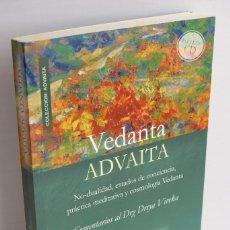 Libros de segunda mano: VEDANTA ADVAITA - COMENTARIOS AL DRG DRSYA VIVEKA. Lote 99783323