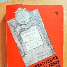 Libros de segunda mano: LA CONSTITUCIÓN DE 1812 Y EL PRIMER LIBERALISMO ESPAÑOL (C. FURIO CERIOL, 1978) M. MTNEZ SOSPEDRA. Lote 155518625