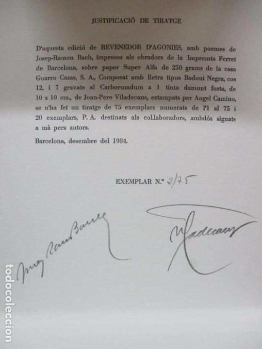 Libros de segunda mano: REVENEDOR D'AGONIES. BACH, Josep-Ramon i VILADECANS, Joan-Pere. ILUSTR. GRAVATS. 1984. ED. NUMERADA. - Foto 6 - 99941323
