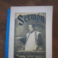 Libros de segunda mano: LIBRO SERMÓN J. SERRED 8ª EDICION 1978 FACSIMIL L-16062. Lote 99956211