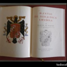 Libri di seconda mano: MANUAL DE HERALDICA ESPAÑOLA. MARTIN DE RIQUER. Lote 99963003