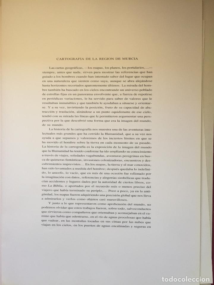 Libros de segunda mano: CARTOGRAFIA DE LA REGION DE MURCIA - Foto 4 - 99978311