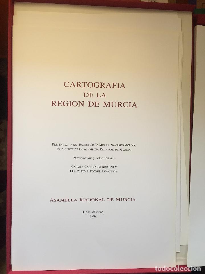 Libros de segunda mano: CARTOGRAFIA DE LA REGION DE MURCIA - Foto 6 - 99978311