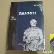 Libros de segunda mano: TEOFRASTO: CARACTERES (INTROD,TRADUCC,NOTAS,COMENTARIOS: ALBERTO NODAR). Lote 100289811