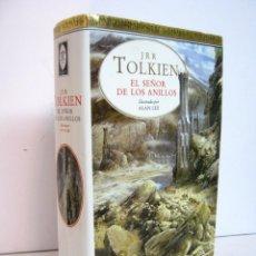 Libros de segunda mano: EL SEÑOR DE LOS ANILLOS TOLKIEN LUJO. ILUSTRADO POR ALAN LEE. EDICIONES MINOTAURO. 50 ILUSTRACIONES. Lote 121957078