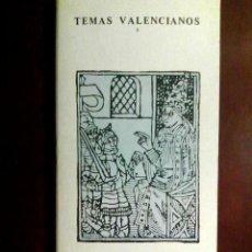 Libros de segunda mano: DOS ACTITUDES ANTE LA RECONQUISTA DE VALENCIA - UBIETO, ANTONIO - TEMAS VALENCIANOS, N.º 3. Lote 100487899