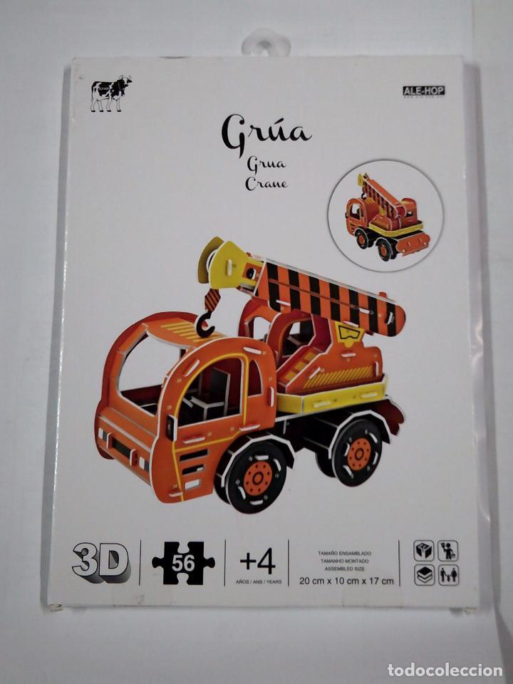 CONSTRUIR UNA GRUA EN 3D. 56 PIEZAS. ALE-HOP. TDK305 (Libros de Segunda Mano - Literatura Infantil y Juvenil - Otros)