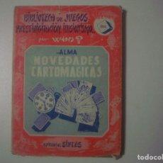 Libros de segunda mano: LIBRERIA GHOTICA. ALMA. NOVEDADES CARTOMAGICAS. BIBLIOTECA DE JUEGOS... WHO? 1952. ILUSTRADO.MAGIA. Lote 100639079