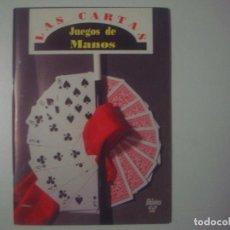 Libros de segunda mano: LIBRERIA GHOTICA. CLAUDINET. LAS CARTAS. JUEGOS DE MANOS. 1991. MUY ILUSTRADO. MAGIA.. Lote 100639711