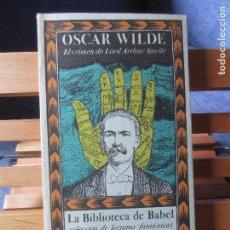 Libros de segunda mano: EL CRIMEN DE LORD ARTHUR SAVILE-OSCAR WILDE-ED.SIRUELA-LA BIBLIOTECA DE BABEL Nº 6. Lote 100751335