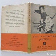 Libros de segunda mano: DONALD KEENE. LA LITERATURA JAPONESA. RMT83900. . Lote 101309499