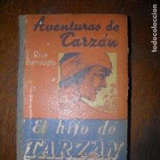 Libros de segunda mano: F1 9 EJEMPLARES AVENTURAS DE TARZAN FALTA EL Nº3 LAS FIERRAS DE TARZAN VER FOTOS. Lote 101311155