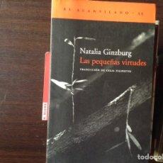 Livros em segunda mão: LAS PEQUEÑAS VIRTUDES. NATALIA GINZBURG. Lote 101349640