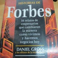 Libros de segunda mano: HISTORIAS DE FORBES DANIEL GROSS EDIT GESTIÓN 2000 AÑO 1998. Lote 101368531