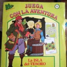 Libros de segunda mano: 2 LA ISLA DEL TESORO-EL LIBRO DE LAS TIERRAS VÍRGENES-JUEGA CON LA AVENTURA-BERGANTÍN NUEVO 1987. Lote 101607371