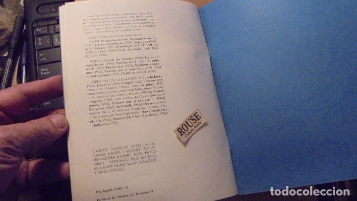 Libros de segunda mano: POESIA VISUAL - JOAN BROSSA . PLUJA . BARCELONA 1973 EN TAPA EN INTERIOR BARCELONA 1970 LIBRO CON - Foto 5 - 101635439