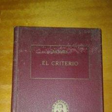 Libros de segunda mano: EL CRITERIO. BALMES. 1940. Lote 101683263