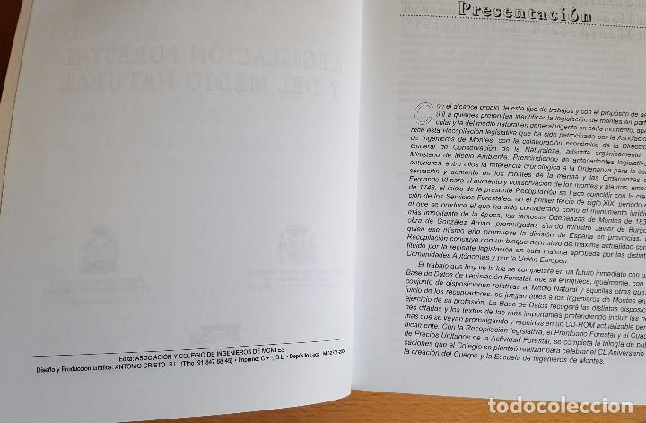 Libros de segunda mano: Legislación Forestal y del Medio Natural. Edita Asociación y Colegio de Ingenieros de Montes - Foto 2 - 101733835