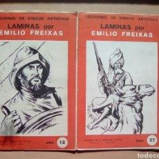 Libros de segunda mano: LOTE LECCIONES DE DIBUJO ARTÍSTICO LÁMINAS POR EMILIO FREIXAS.NUM 12 Y 37. Lote 101984090