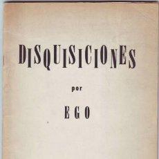 Libros de segunda mano: GUERRA, EULALIO G: DISQUISICIONES. DEDICATORIA AUTÓGRAFA DEL AUTOR. - PRIMERA EDICIÓN. Lote 102096959