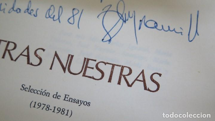 Libros de segunda mano: LETRAS NUESTRAS. RENAN FLORES JARAMILLO. DEDICADO POR EL AUTOR - Foto 2 - 102125095