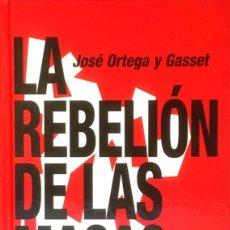 Libros de segunda mano: LA REBELIÓN DE LAS MASAS. JOSÉ ORTEGA Y GASSET.. Lote 102418691