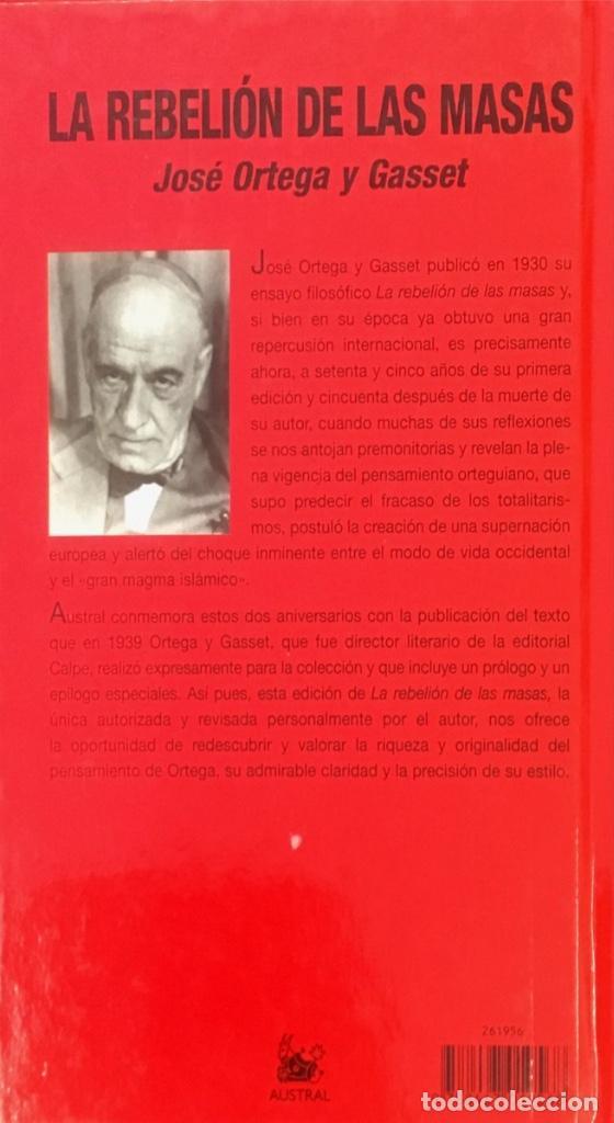Libros de segunda mano: La rebelión de las masas. José Ortega y Gasset. - Foto 2 - 102418691