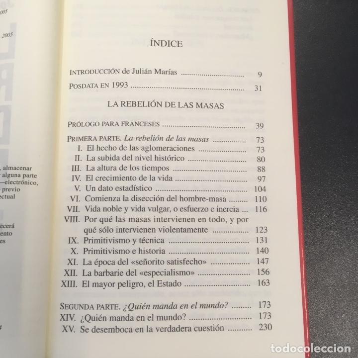 Libros de segunda mano: La rebelión de las masas. José Ortega y Gasset. - Foto 8 - 102418691