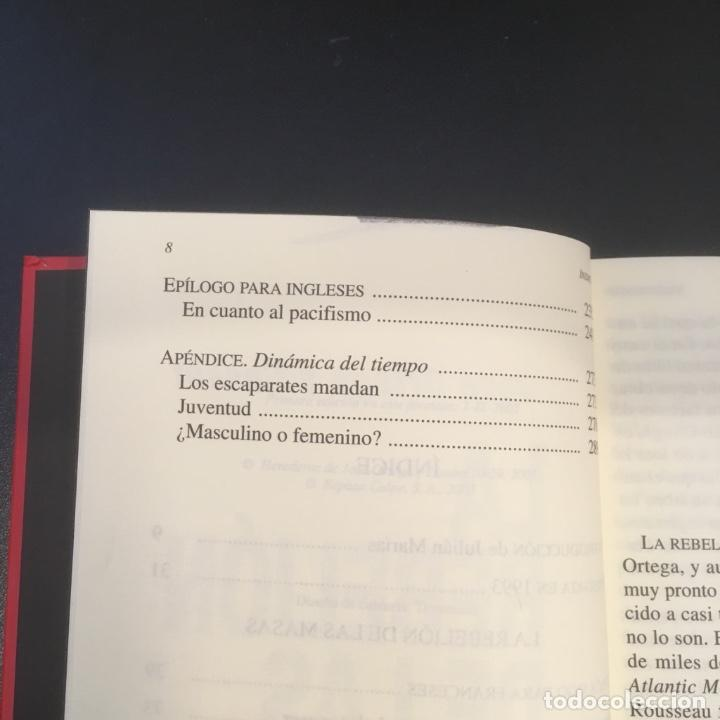 Libros de segunda mano: La rebelión de las masas. José Ortega y Gasset. - Foto 9 - 102418691