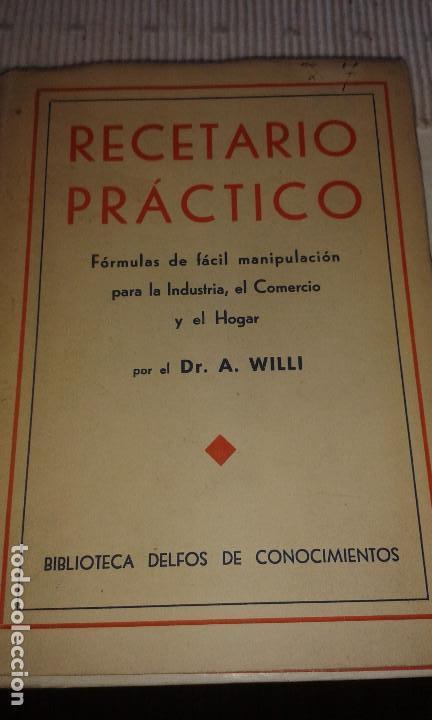 RECETARIO PRÁCTICO (Libros de Segunda Mano - Ciencias, Manuales y Oficios - Otros)