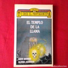 Libros de segunda mano: EL TEMPLO DE LA LLAMA. D. MORRIS O. JOHNSON. ILUSTRADO L. HARTAS. EDIT ARIN 1986 1 EDIC LIBRO JUEGO . Lote 102455551