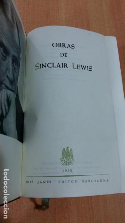 OBRAS DE SINCLAIR LEWIS. JANES EDITOR 1958. W (Libros de Segunda Mano (posteriores a 1936) - Literatura - Otros)