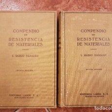 Libros de segunda mano: LOTE 2 LIBROS:COMPENIO DE RESISTENCIA DE MATERIALES,EDITORIAL LABOR .. Lote 102526767