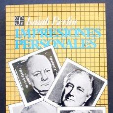 Libros de segunda mano: IMPRESIONES PERSONALES - ISAIAH BERLIN - FONDO DE CULTURA ECONÓMICA (1992). Lote 102536175