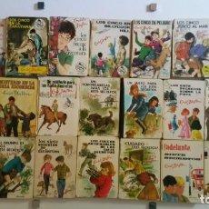 Libros de segunda mano: LOTE DE 26 LIBROS DE ENID BLYTON - SERIE LOS CINCO Y LOS SIETE - EDITORIAL JUVENTUD - AÑOS 50 Y 60. Lote 102673103
