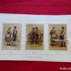 Libros de segunda mano: TRAJES REGIONALES CANARIAS: 12 LITOGRAFÍAS DE A. ROMERO. DE 10X15 CM 49 CMS 600 GRS. Lote 102682007