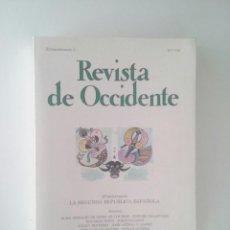 Libros de segunda mano: REVISTA DE OCCIDENTE 7-8. EXTRAORDINARIO I. LA SEGUNDA REPÚBLICA ESPAÑOLA (1981). Lote 102700967