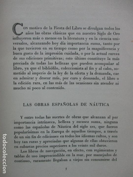 Libros de segunda mano: EUROPA APRENDIÓ A NAVEGAR EN LIBROS ESPAÑOLES. JULIO F. GUILLÉN Y TATO. 1943. - Foto 3 - 102936267