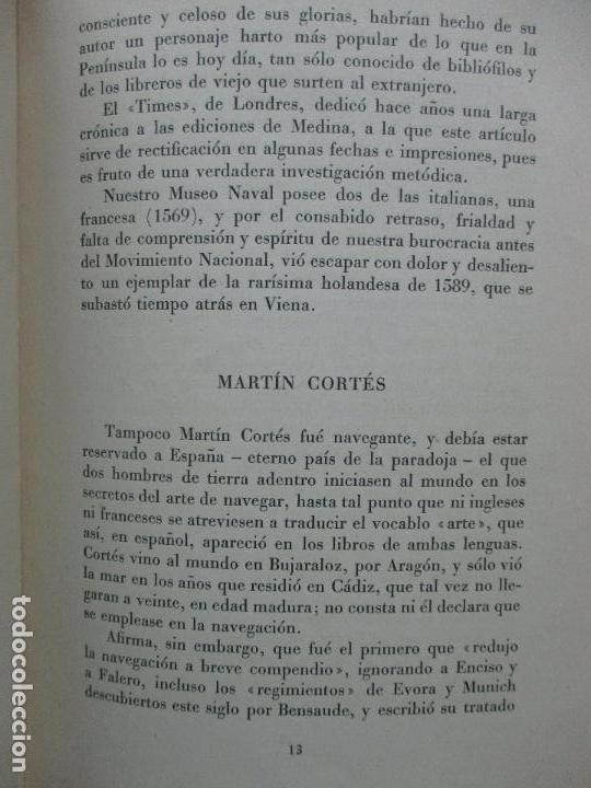 Libros de segunda mano: EUROPA APRENDIÓ A NAVEGAR EN LIBROS ESPAÑOLES. JULIO F. GUILLÉN Y TATO. 1943. - Foto 5 - 102936267